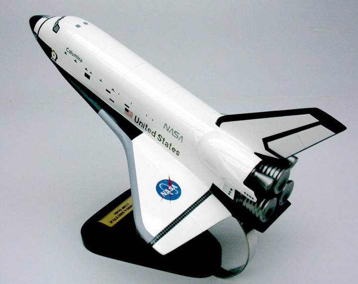Nasa space shuttle columbia 1 100 scale mahogany model - Small space shuttle model ...