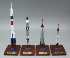 NASA-Russian - Soyuz U2/Gemini Titan/Mercury Atlas/Mercury Redstone - Rockets Group (4) - 1/100 Scale