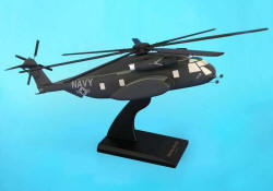 USN - Sikorsky MH-53E Super Sea Dragon - 1/48 Scale Mahogany Helicopter Model - C5048H3W