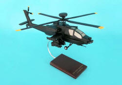 United States Army - McDonnell-Douglas - AH-64D Apache Long Bow - Attack Helicopter - 1/32 Scale Mahogany Model - D0332H3W