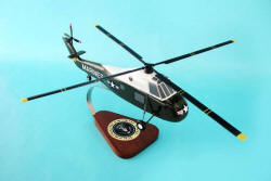 USMC - Presidential One Helio - Sikorsky VH-34D Seaking Marine One Helicopter - 1/48 Scale Mahogany Model - C6248H3W