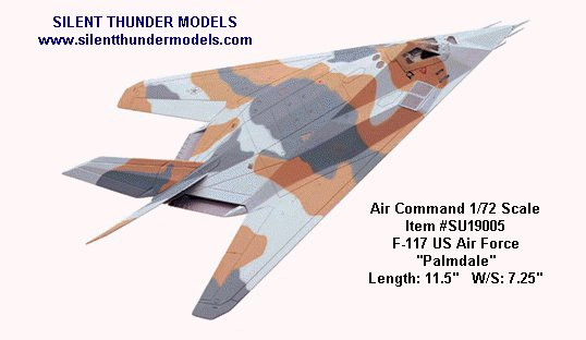 "USAF - F-117 Stealth ""Palmdale"" - Air Command 1/72 Scale Diecast Model - #SU19005"