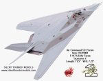 "Air Command - F-117 Stealth ""Scorpion 1"" USAF - 1/72 Scale Diecast Model - #SU19004"