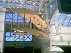Click image for larger view of Wright Flyer Replica - displayed at the Dayton International Airport in Dayton, Ohio
