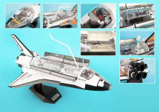 "4D Vision Space Shuttle Cutaway Model Kit - 20"" inches long!"