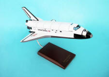 NASA - Space Shuttle Atlantis - 1/100 Scale Large Mahogany Model