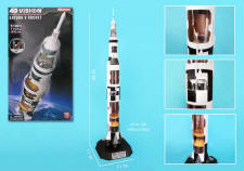 4D VISION - NASA - SATURN V ROCKET MODEL - 1/100 Scale