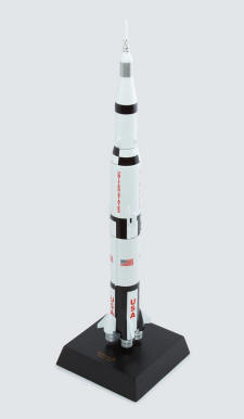 NASA - Apollo Saturn V Rocket - 1/200 Scale Mahogany Model