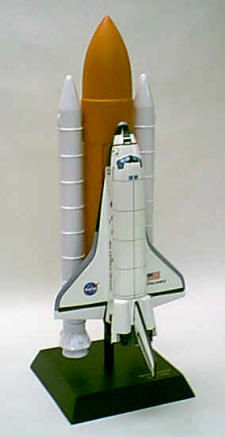 NASA - Space Shuttle Discovery with Full Stack 1/100 Scale - Solid Rocket Boosters and Center Fuel Tank