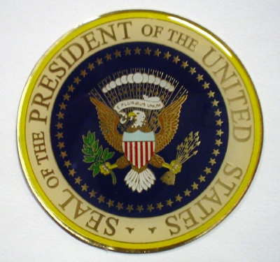 presidential seal 2 316quot brass plaque