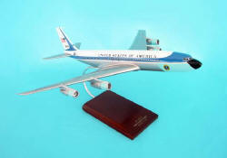 Air Force One - Boeing VC-137A 707 - Tail No. 26000 - President John F. Kennedy's Plane - 1/100 Scale Mahogany Model - B3110C3W