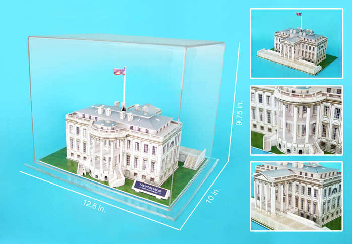 The White House 3d Building Model With Acrylic Display Case