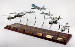 The Presidential Fleet Collection - 1/200 Scale Models - Marine One VH-34, Marine One VH3, VC-121 Columbine III, VC-25A, SAM 26000, Marine One VH60, and Marine One VH-71