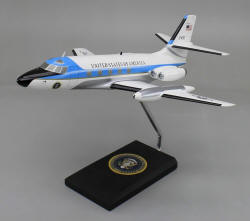 Air Force One - Lockheed VC-140B Jetstar - 1/48 Scale Mahogany Model - SOCVC140JW