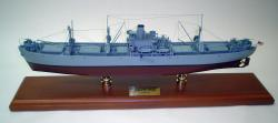 Click Here For A Larger View - USN - Liberty Ship - 1/192 Scale Mahogany Model