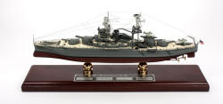 Click Here For Details And A Larger View - USS Arizona - Battleship BB-39 - Signed - 1/350 Scale Mahogany Model