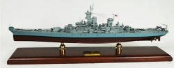 Click Here For Details And A Larger View - WWII - USN - USS Missouri BB-63 Battleship - 1/350 Scale Mahogany Model