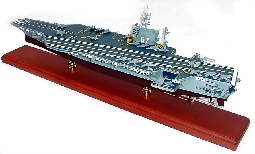 uss john f kennedy cv 67 aircraft carrier custom mahogany ship model