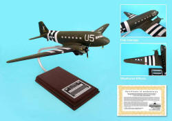 C-47 Band Of Brothers Signed By William Guarnere 1/62 Scale Model
