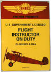 Flight Instructor On Duty Sign - Novelty/Humorous - Metal Collector Sign - AR006