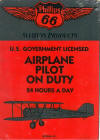 Airplane Pilot On Duty Sign - Novelty/Humorous - Metal Collector Sign - AR010