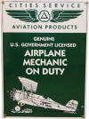 Airplane Mechanic On Duty Sign - Novelty/Humorous - Metal Collector Sign - AR013