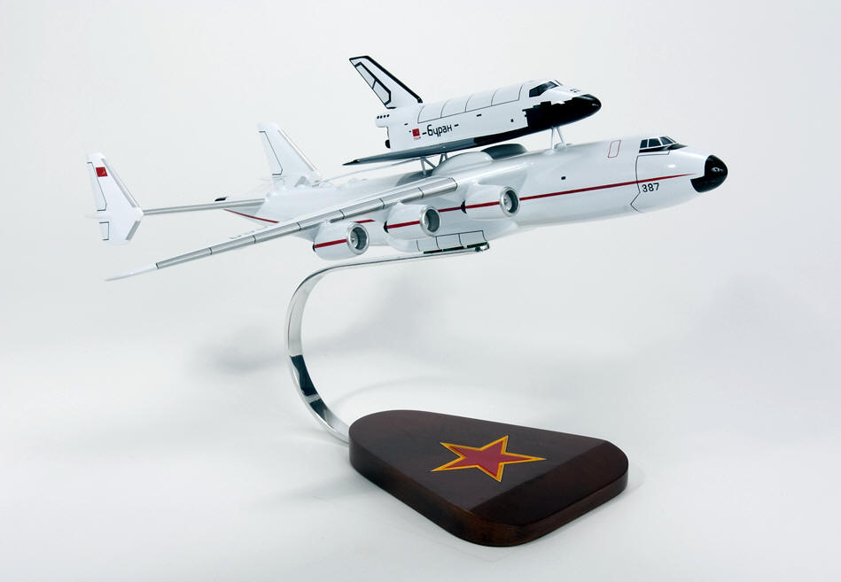 Russian - AN-225 with Space Shuttle Orbiter Piggyback - 1/200 Scale Model