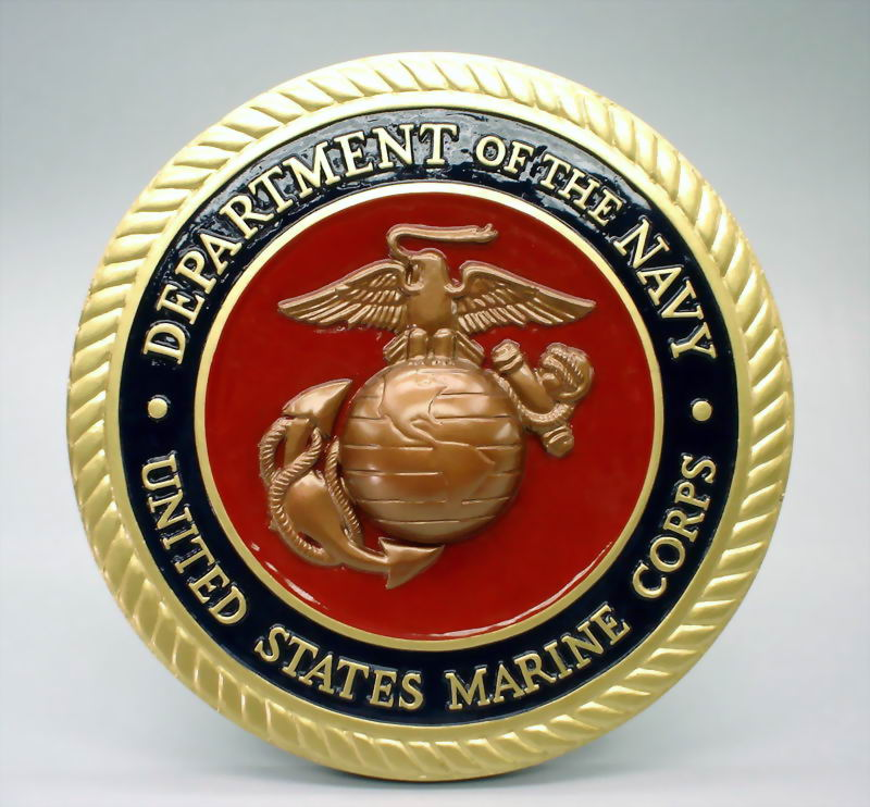 official us department of the navy unite states marine corps 14 plaque usmc14don. Black Bedroom Furniture Sets. Home Design Ideas