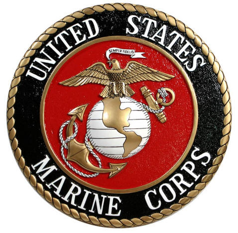 united states marine corps 14 plaque usmc. Black Bedroom Furniture Sets. Home Design Ideas